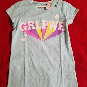Children's Place Graphic Tee NWT Size M GRL PWR